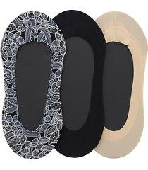 3-pack venice lace fine edge liner socks