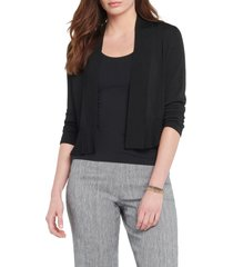 women's nic+zoe first day cardigan, size x-small - black