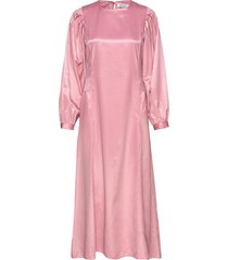rodebjer julinka occasion maxi dress galajurk roze rodebjer