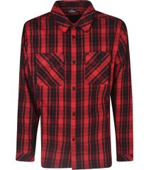 marcelo burlon checked pattern shirt
