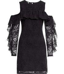 abito in pizzo con volant (nero) - bodyflirt boutique