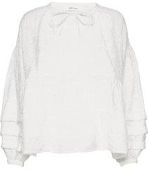 roya blouse 13085 blouse lange mouwen wit samsøe samsøe