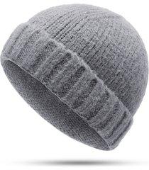 uomo donna vogue berretto in lana lavorato a maglia senza cappuccio berretto a testa in lana selvaggio senza cappuccio