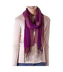 alpaca blend scarf, 'effortless style' (peru)