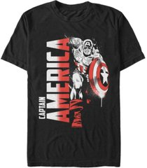 marvel men's comic collection retro captain america fierce pose short sleeve t-shirt