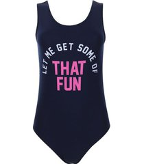 body that fun color azul, talla 6