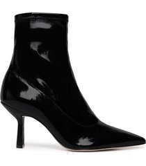 charleni patent leather bootie - 10.5 black patent leather