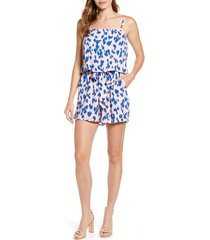 petite women's gibson x hot summer nights two peas layered camisole romper, size x-large p - pink (regular & petite) (nordstrom exclusive)