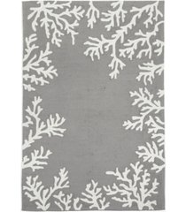 "liora manne' capri 1620 coral border 7'6"" x 9'6"" indoor/outdoor area rug"