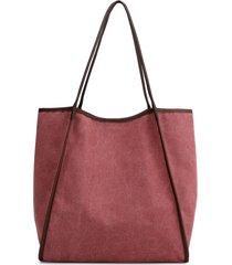 borsa a tracolla con tote in tela da donna semplice borsa