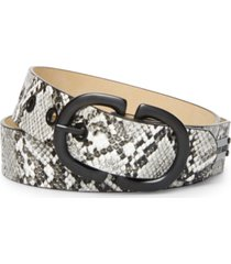 steve madden python print double-head-buckle belt
