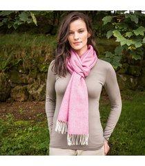 ladies' herringbone lambswool scarf wine one size