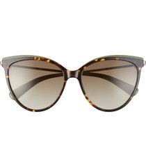 longchamp 55mm gradient cat eye sunglasses in vintage havana/khaki gradient at nordstrom