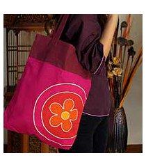 cotton handbag, 'daisy charms' (thailand)