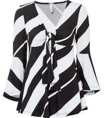 maglia con maniche a campana (nero) - bodyflirt boutique