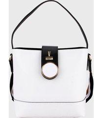 bolso blanco-negro vizzano