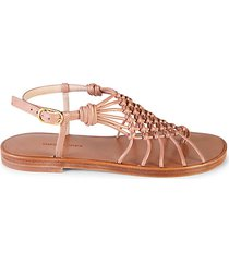 seaside leather thong sandals