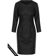 leren jurk dames zwart