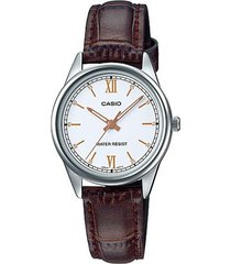 reloj casio ltp-v005l-7b3 marrón cuero
