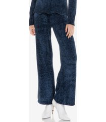 english factory scallop waistband knit pants