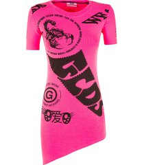 gcds asymmetric skirt printed dress