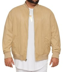mvp collections perforated suede bomber jacket