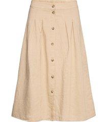 skirts light woven knälång kjol beige esprit casual