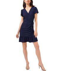 1.state ruched faux wrap dress