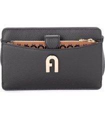furla sofia mini wallet bag in printed black leather