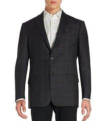 notched lapel long sleeve jacket