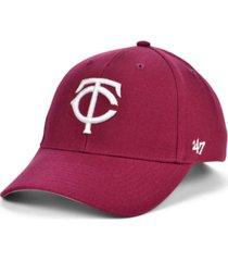 '47 brand minnesota twins cardinal mvp cap