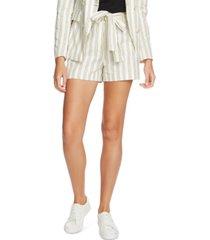 1.state striped cotton tie-waist shorts