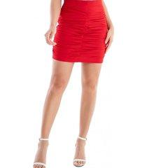 mini falda drapeada rojo nicopoly