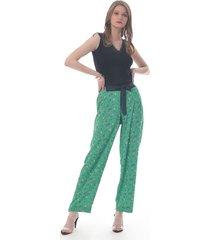 pantalon para mujer en crepé multicolor