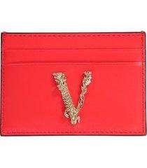 versace card holder with virtus logo