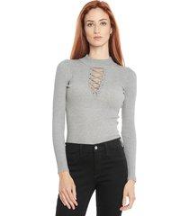 sweater wados solid gris - calce ajustado