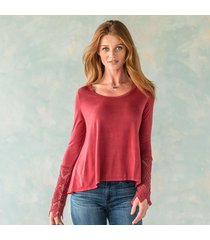 anama va llc scoop neck 1/4 sleeve top