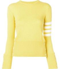 thom browne 4-bar stripe jumper - yellow
