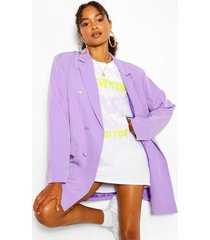 oversize double breasted blazer, lilac