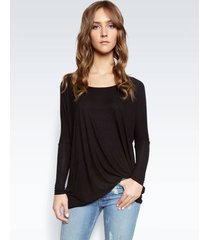 hunter draped tee - xs black