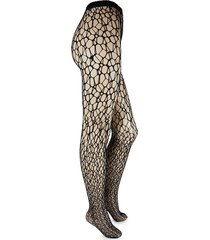 wolford women's fish scale tights - black - size m