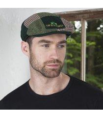 handmade shamrock patchwork cap green