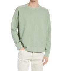 men's club monaco oversize crewneck sweatshirt, size x-large - green