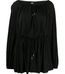 dsquared2 drawstring mini dress - black
