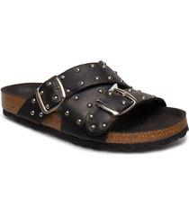 cara cross studs shoes summer shoes flat sandals svart shoe the bear