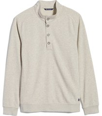 men's big & tall cutter & buck saturday mock neck sweatshirt, size 4xb - brown