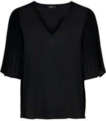 blus onlsara s/s plisse lace top