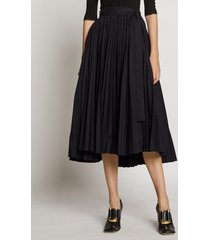 proenza schouler pleated poplin wrap skirt black 4