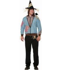 buyseasons scarecrow hoodie adult costume