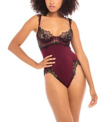 women's viscose jersey and eyelash lace molded shelf cup teddy